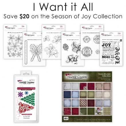 IWIA 139 ~ Season of Joy Collection , die set, 6 stamp sets + paper pad